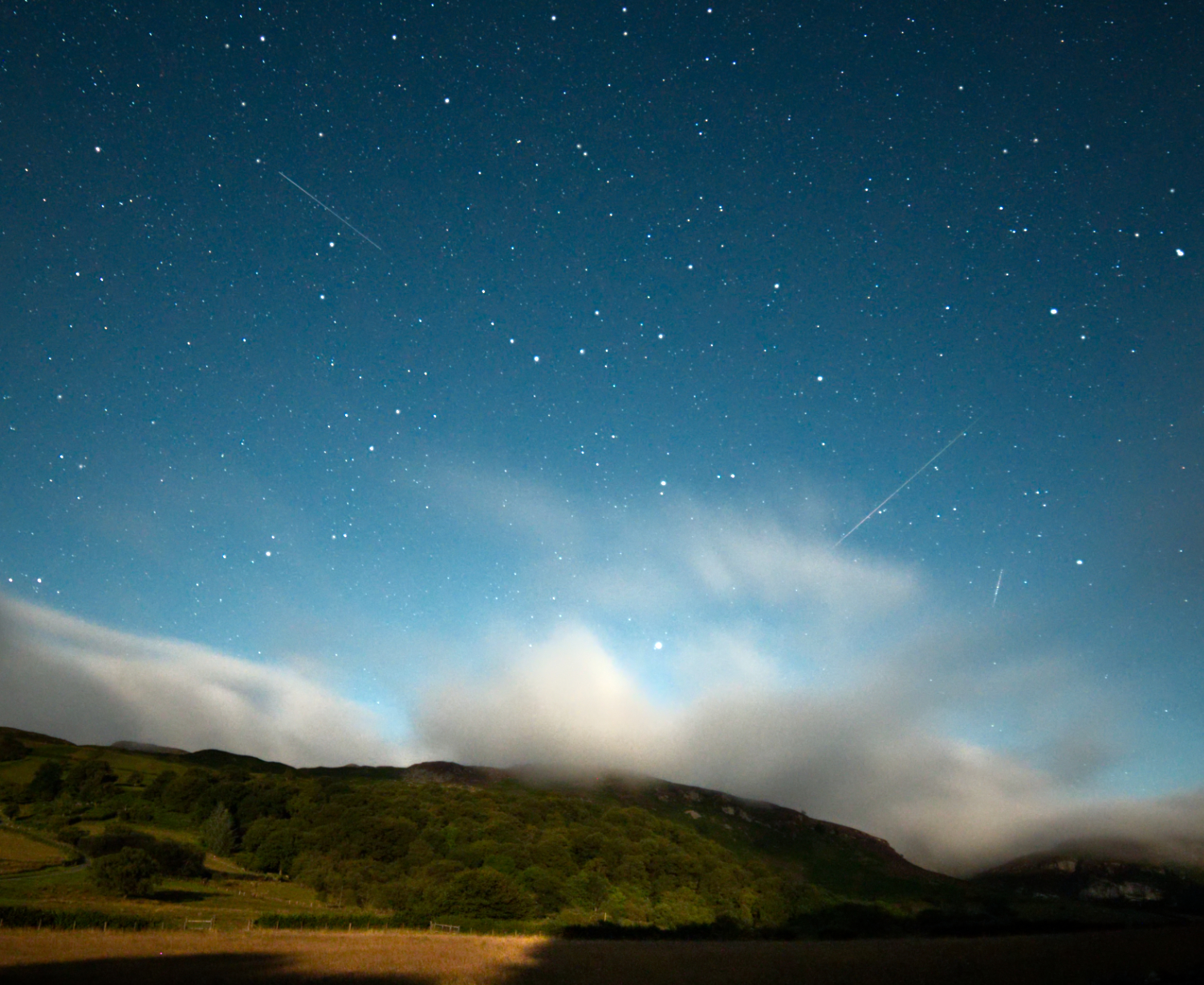Perseids over Elan Valley by Sam Price
