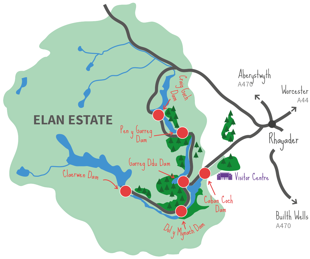 Reservoirs and dams elan valley