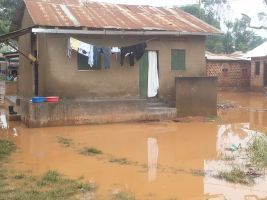 Kampalan slums after heavy rainfall