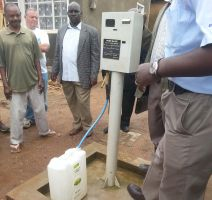 Token meter for water in a Kampalan slum