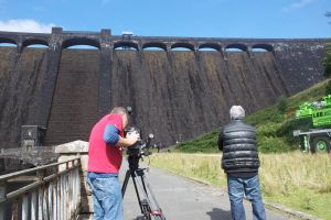 Top Gear film stunt on Claerwen Dam